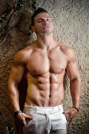 Supplement-Mann mit Muskeln
